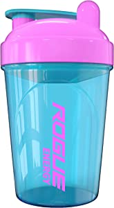 Rogue Energy Shaker Bottle, 16-Ounce, 500ml, BPA Free, Dishwasher Safe, Blue & Pink (Unicorn Edition)