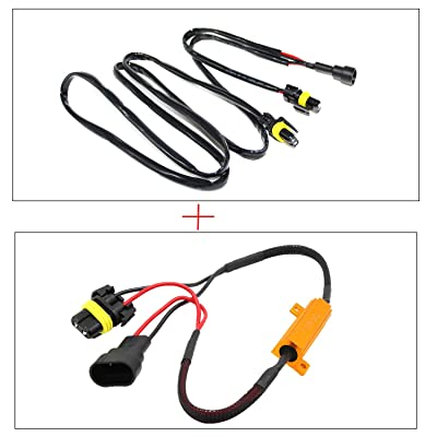 Alla Lighting 9005 HB3 Anti-Flicker + Load Resistor Sets Fix for Toyota, for Lexus DRL High Beam Flashing Blinking Canbus Bypass Wiring Harness Decoder for Headlight Headlamp Daytime Running Light: Automotive