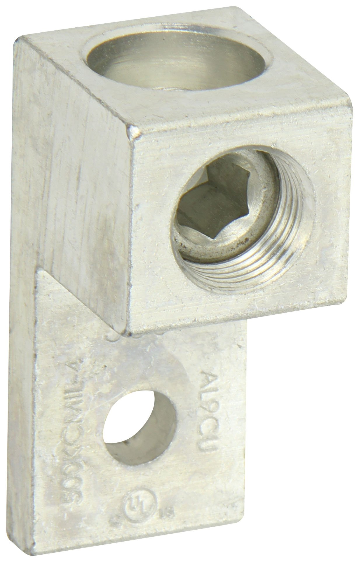 Dual Rated Mechanical Connector, Single Lug, 500MCM-4AWG Wire Range, 0.41'' Mounting Hole, 1.2'' Width, 1.41'' Height, 2.75'' Length