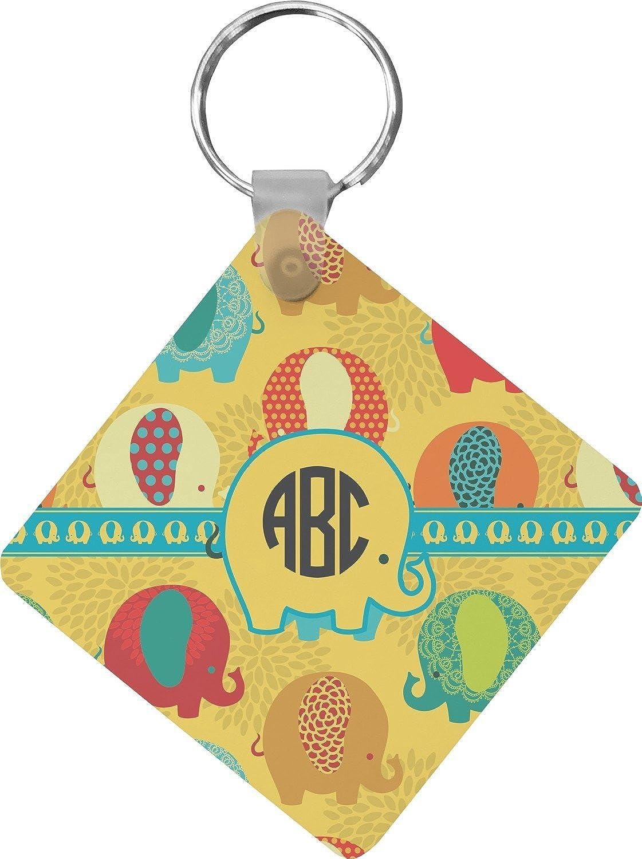 Cute Elephants Diamond Key Chain (Personalized)