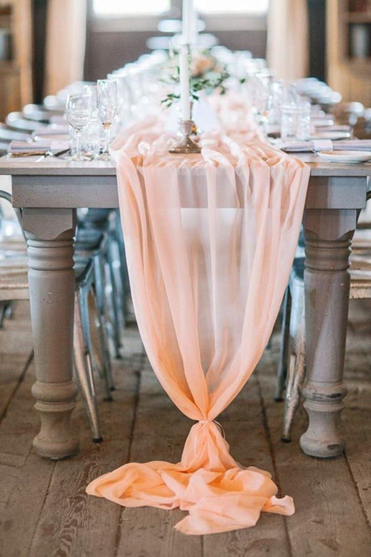 Chiffon Tischläufer Hochzeit