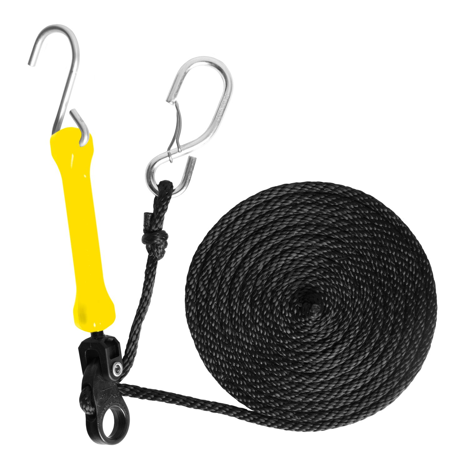 The Perfect Bungee by BihlerFlex Safety Green PTDG Adjustable Bungee Perfect Tie-Down with Spring-Loaded Gated S-Hooks 12