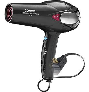 amazon com conair 1875 watt ionic conditioning cord keeper conair 1875 watt cord keeper 2 in 1 hair dryer black