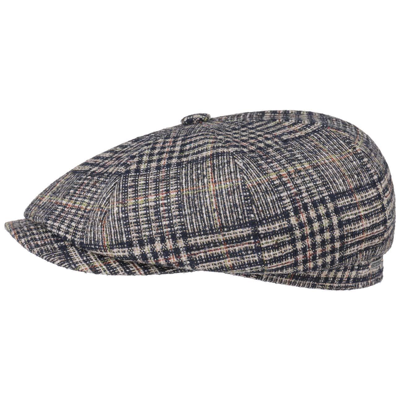 Stetson Hatteras Wool Plaid Flat Cap Men Made in The EU