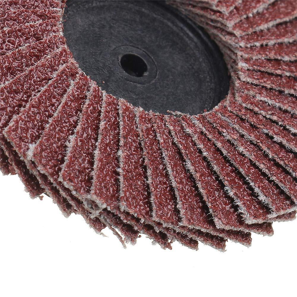 Size: 60 Pukido 10Pcs 2 Inch 40-120 Grit Flap Disc Sanding Wheels R Roloc Threaded Twist Lock Kit Abrasive Tool