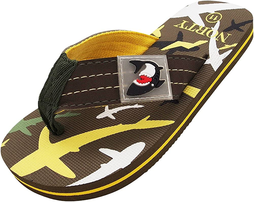 NORTY Boy's Girl's Flip Flop for The Beach, Pool, Everyday - Runs One Size Small