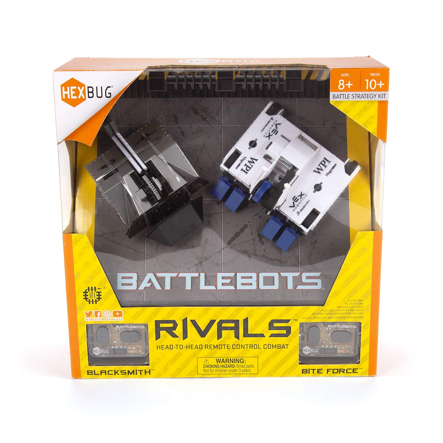 HEXBUG BattleBots Rivals 4.0 (Blacksmith and Biteforce) Toys for Kids, Fun Battle Bot Hex Bugs Black Smith and Bite Force by HEXBUG (Image #3)