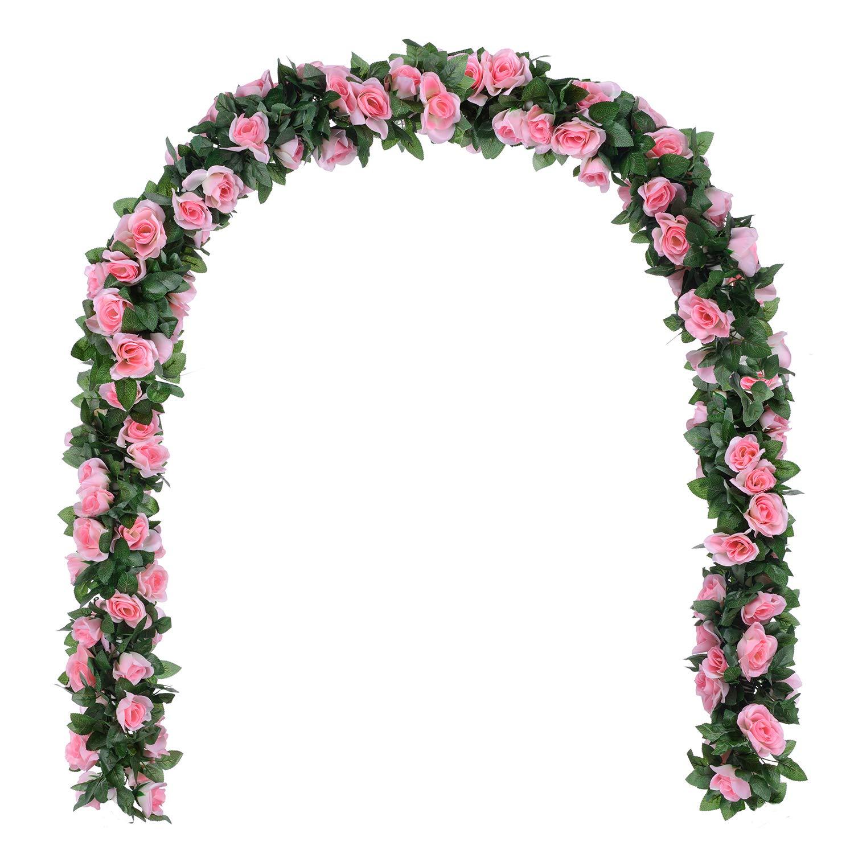Amazon Dearhouse Artificial Flower Rose Vine Garland 8ftpiece