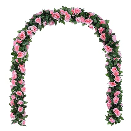 Amazon Dearhouse Artificial Flower Rose Vine Garland 8ftpiece