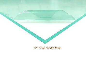 1//4 Thick Cast Clear Acrylic Plexiglass Sheet 12 x 12