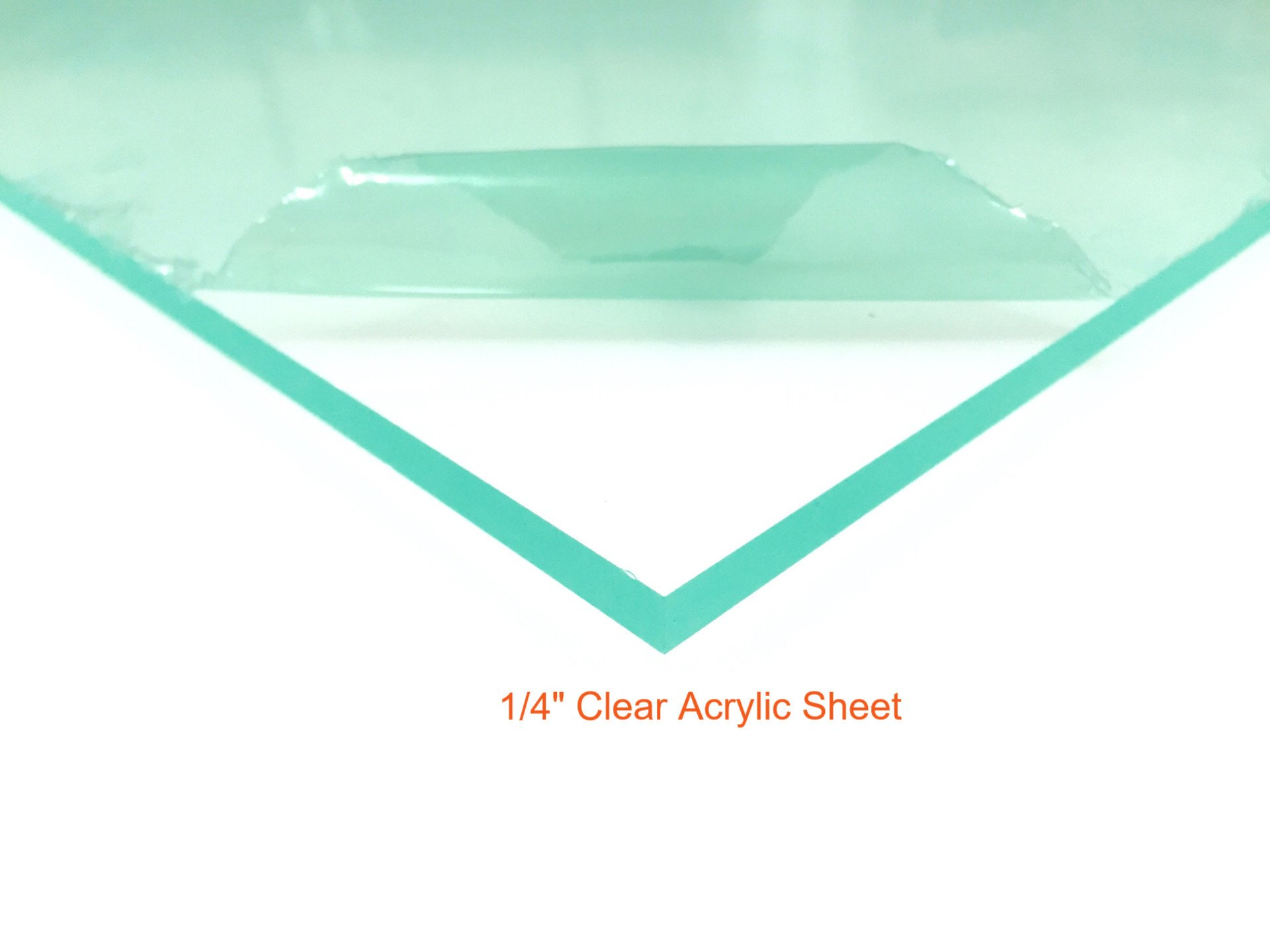 Clear Acrylic Plexiglass Sheet - 1/4'' Thick Cast - 12'' x 24''