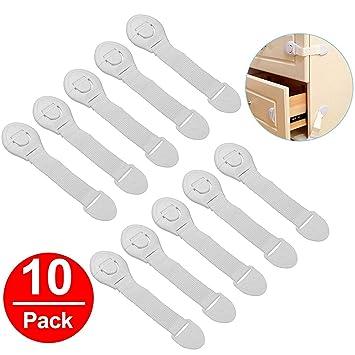 10 pcs Door Drawer Cabinet Safety Locks Cerraduras Children Baby Infant Kids Cupboard