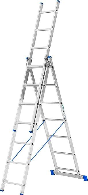 Escalo LS3X07 Stabilo - Escalera con estabilizador (aluminio, 3 x 7 peldaños): Amazon.es: Bricolaje y herramientas