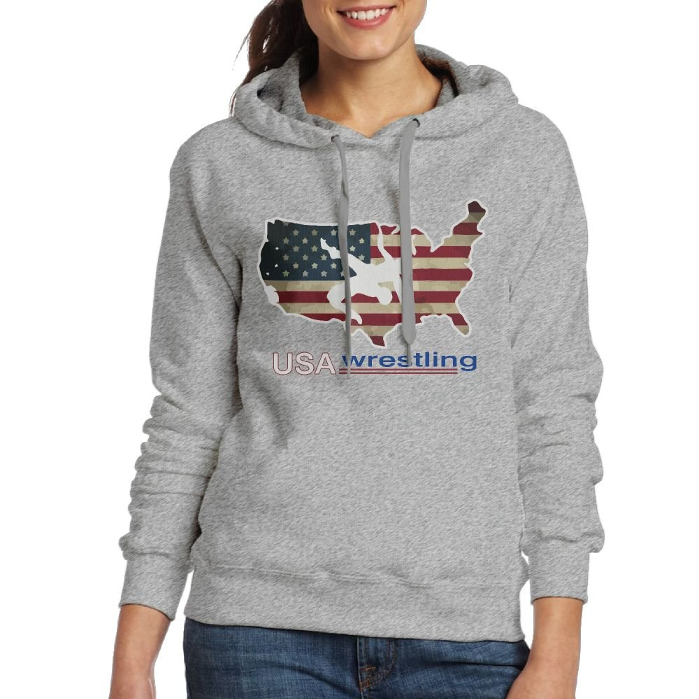 CL&WZ Women's USA Wrestling Hooded Sweatshirt by CL&WZ