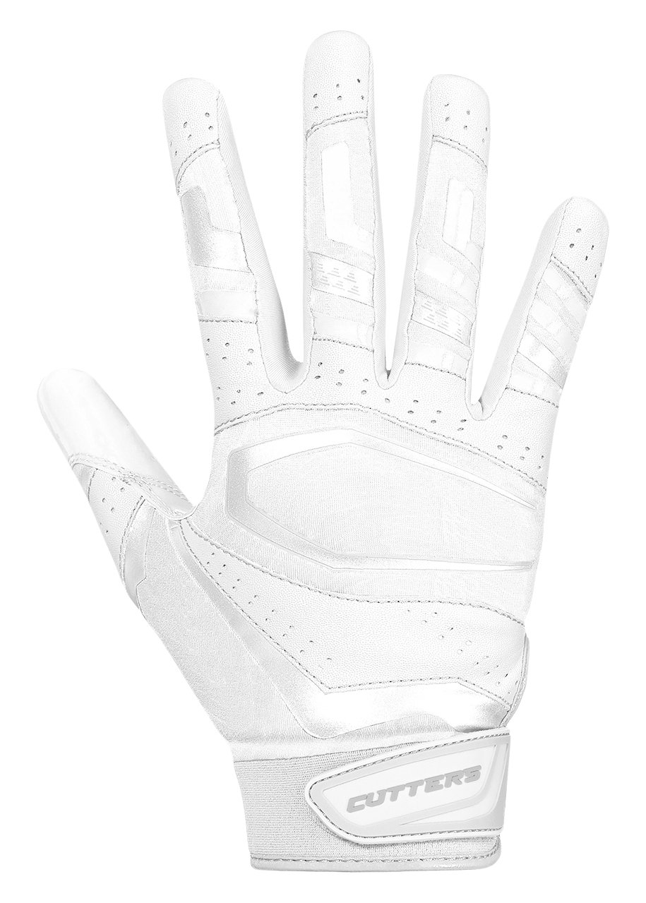 Cutters Gloves, Solid White, Large by Cutters