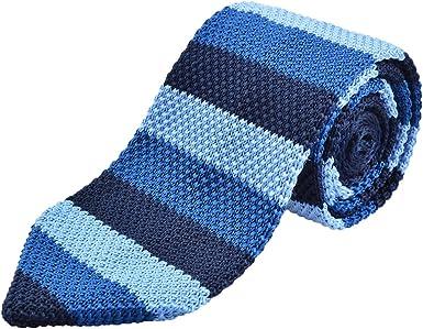 Alizeal Rayas Horizontales –Corbata de Punto para Hombre 10 ...
