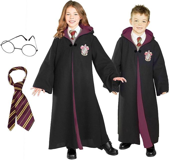 Harry Potter disfraz Bundle Set – Disfraz de niño grande, corbata ...