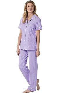 Ladies Pyjamas Plain lilac 100/% Cotton