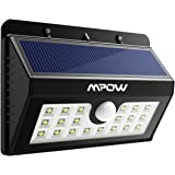 Mpow 20 LED Solar Lights, Bright Outdoor Security Lights with Motion Sensor Wireless Waterproof Lights for Garden, Wall, Path, Patio, Front Door, Deck, Yard, Driveway - 1 Pack
