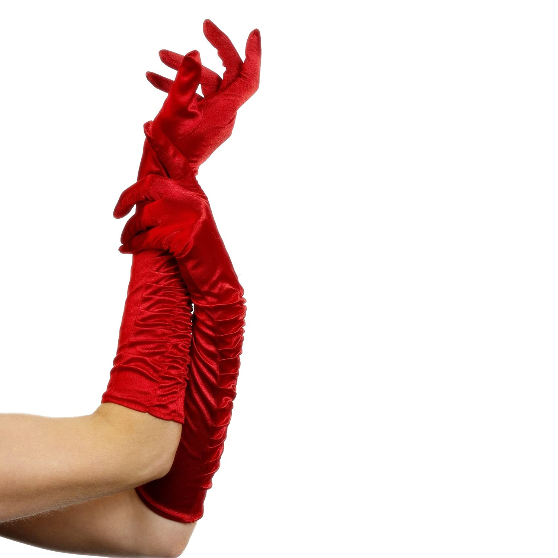 One Size Red 26345 Fever Costumes B000I5VTD4 Temptress Gloves Fever Womens Long Gloves