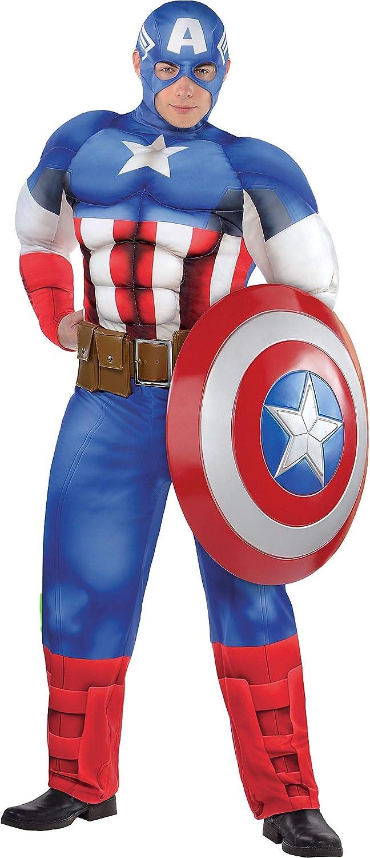 Costumes USA Disfraz de Capitán América para Adultos, Talla Grande ...