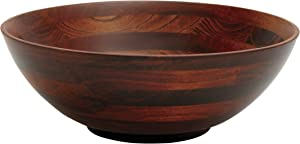 "Lipper International 274 Cherry Finished Footed Serving Bowl for Fruits or Salads, Large, 13.75"" Diameter x 5"" Height, Single Bowl"