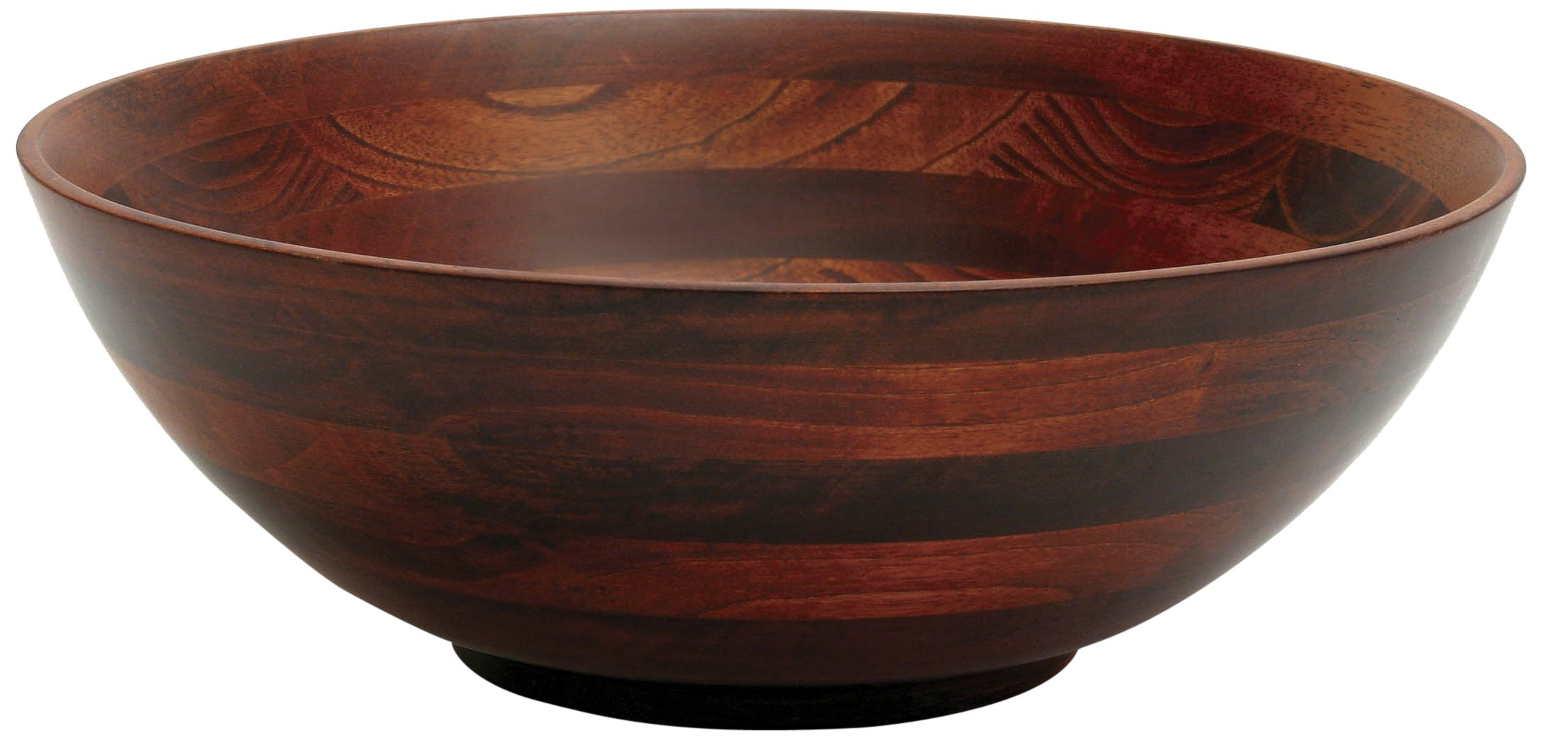 Lipper International 274 Cherry Finished Footed Serving Bowl for Fruits or Salads, Large, 13.75'' Diameter x 5'' Height, Single Bowl by Lipper International (Image #1)