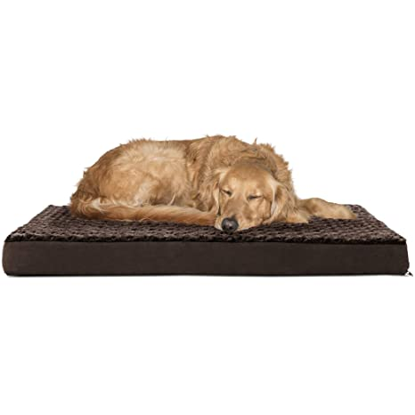 Amazoncom Furhaven Pet Dog Bed Deluxe Orthopedic Ultra Plush
