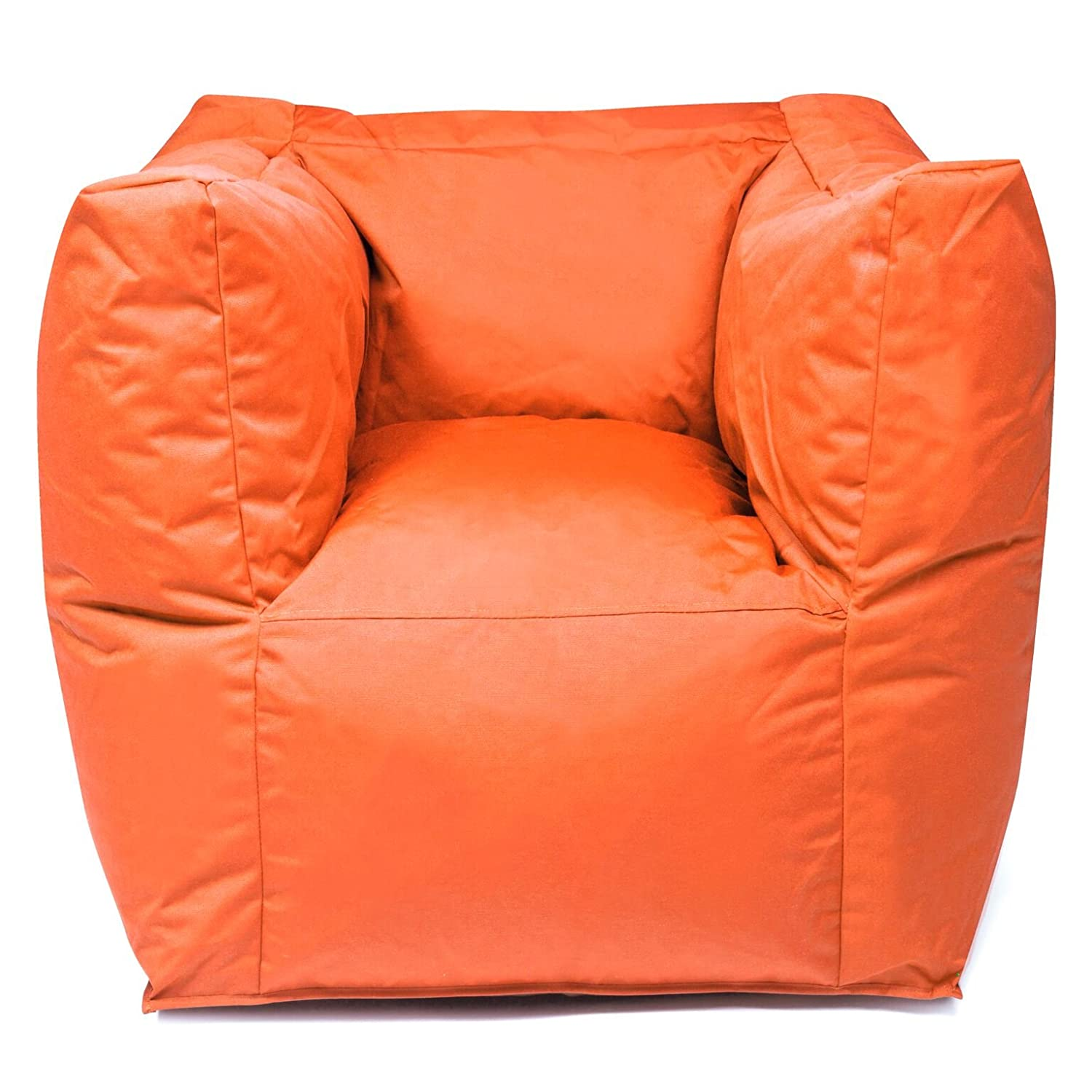 Outdoor Sitzsack Sessel Valley Plus wetterfest frostsicher Hocker Gartenstuhl Gartensessel Gartenliege für draußen Outdoor Lounge Gartenmöbel moderner Look (Orange)