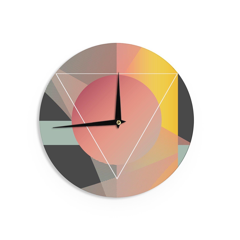 Kess InHouse Danny Ivan Objectum Pink AbstractWall Clock 12 Diameter