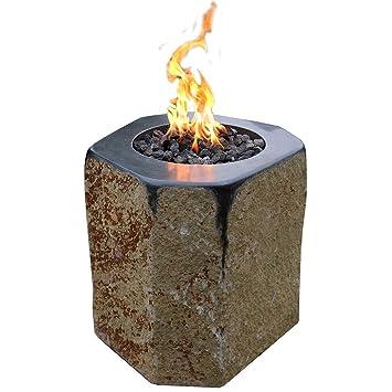Kaminlicht Gas-Feuerstelle Derby aus Basalt Naturstein ...