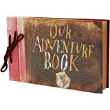 Our Adventure Book Wedding Photo Album,MAMACHU Anniversary Scrapbook Retro Album Birthday Thanksgiving Christmas Women Men and Children,11.6x7.5 Inches 80 Pages