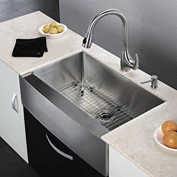 Delicieux KES 33 Inch Farmhouse Sink Farm Sink For Kitchen Apron Front Kitchen Sink  16 Guage SUS 304 Stainless Steel Single Bowl Extra Deep ...