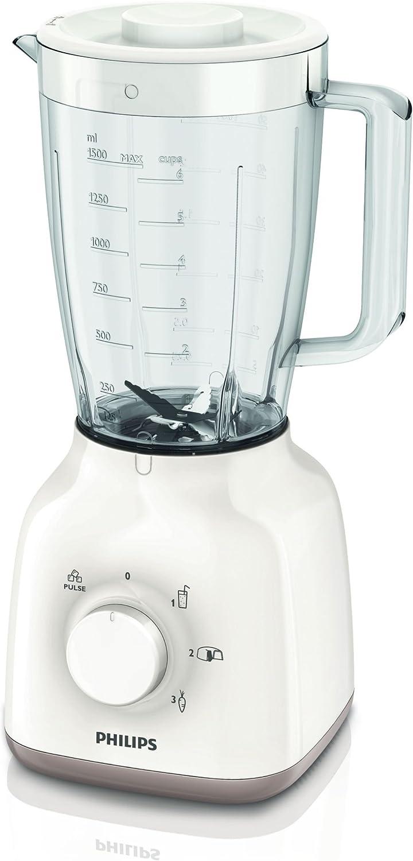 Philips Daily Collection HR2109/06 - Licuadora (1,5 L, Batidora de vaso, Blanco, 1 m, Polipropileno (PP), Acero inoxidable): Amazon.es: Hogar