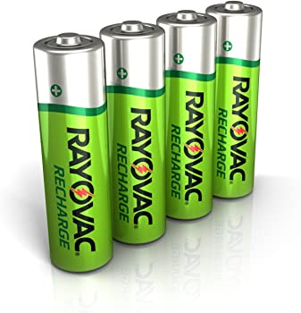 4-Count Rayovac Rechargeable AA Batteries