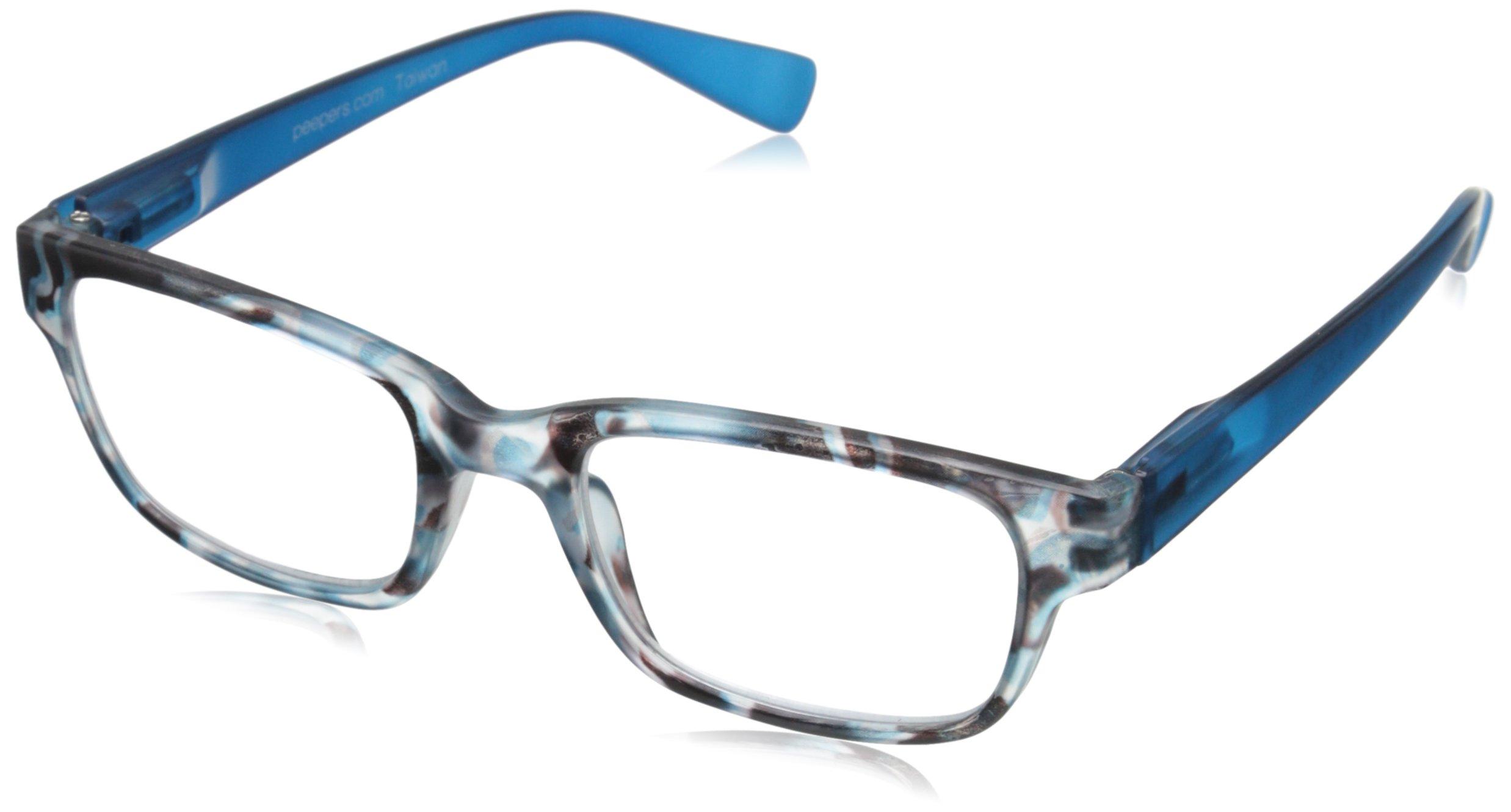 Peepers Flip The Script Square Reading Glasses, Blue Tortoise, 2.5