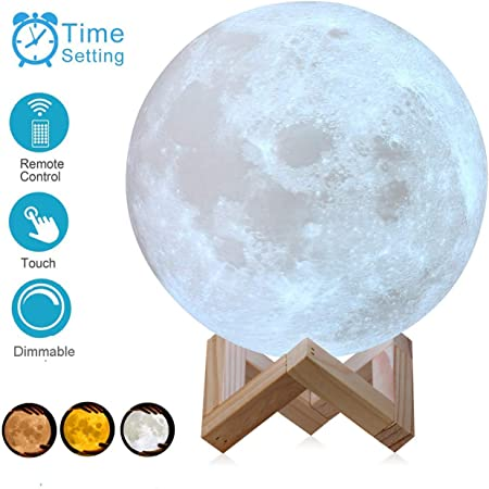 3D Printed  Moon Lamp Magical Night Light Love Gift for Wife Girlfriend Daughter