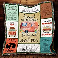 Best Memories Made Camping Quilt P364 All-Season Quilts Comforters with Reversible Cotton King/Queen/Twin Size - Best Decorative Quilts-Unique Quilted for Gifts