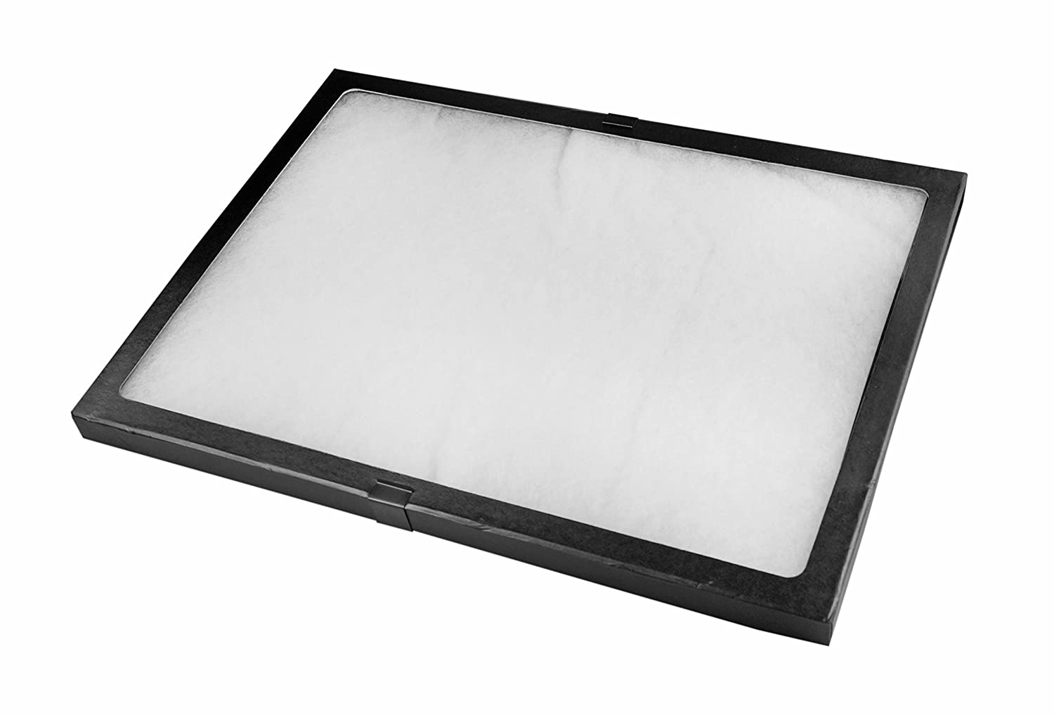"SE JT9212 Glass Top Display Box with Metal Clips, 16"" x 12"" x 0.75"""