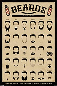 Pyramid America Beards The Art of Manliness Cool Wall Decor Art Print Poster 24x36
