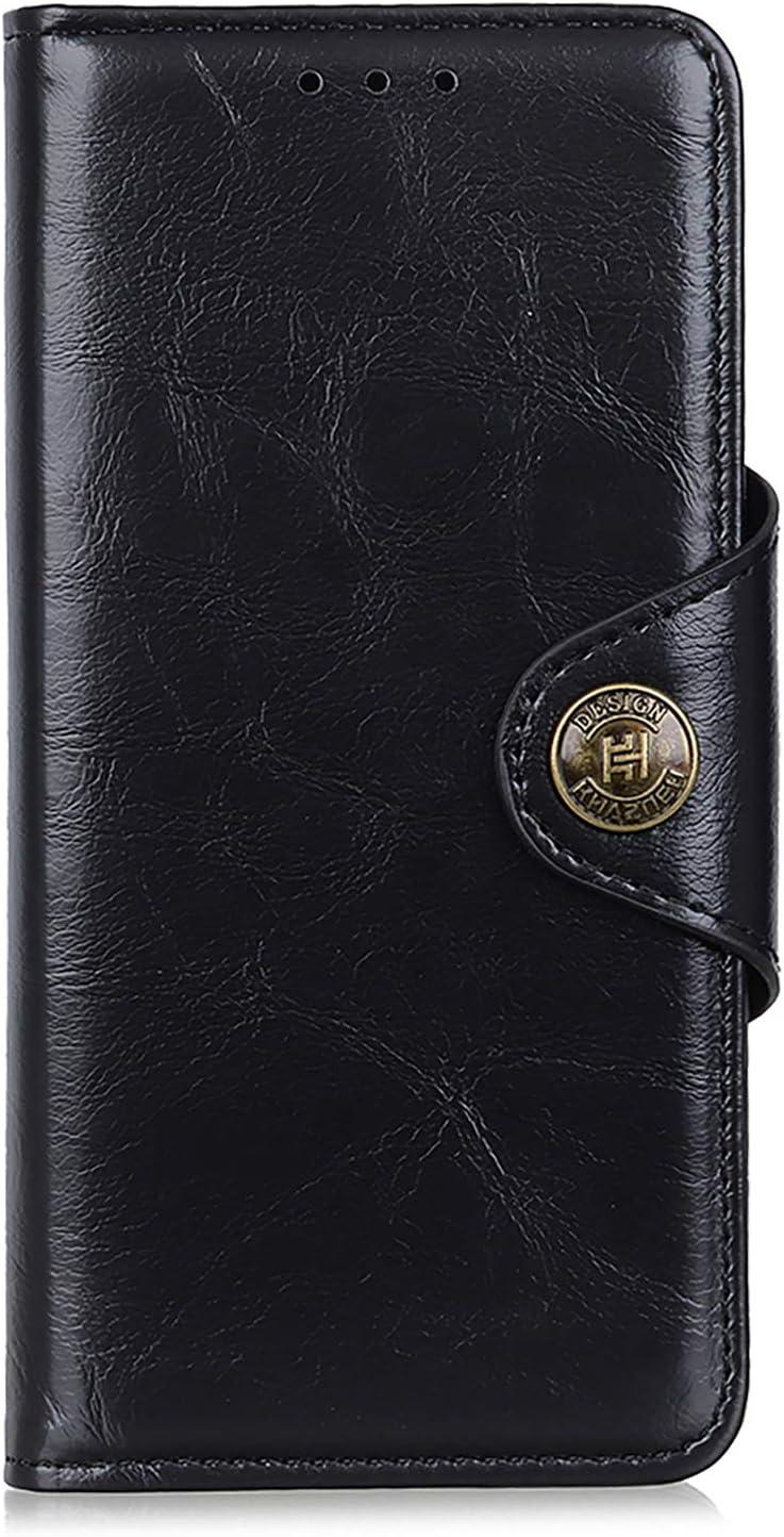NEINEI Funda para Motorola Moto G60/G40 Fusion,Carcasa Libro Premium PU Cuero de Piel de Vaca con [Soporte Plegable][Ranura para Tarjeta][Magnético],Flip Phone Cover Case,Negro