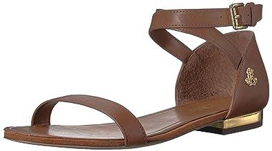 70538cb930a5 Amazon.com  Lauren by Ralph Lauren Women s Davison Flat Sandal ...