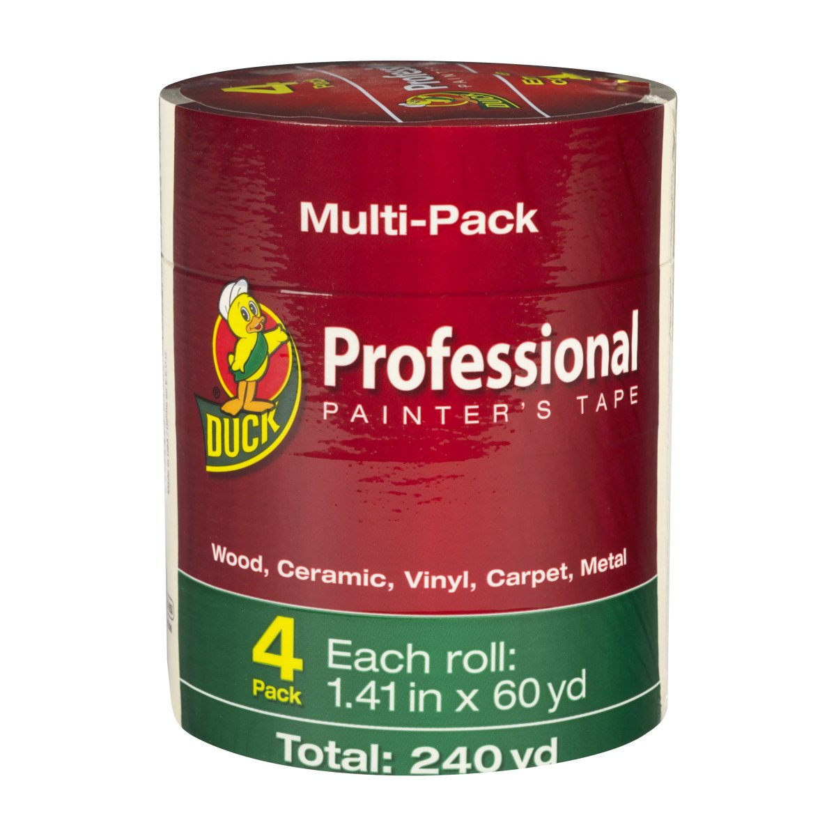 Duck Brand Professional Painter's Tape, 1.41 in. x 60 yd, Beige, 4-Pack (1362492)