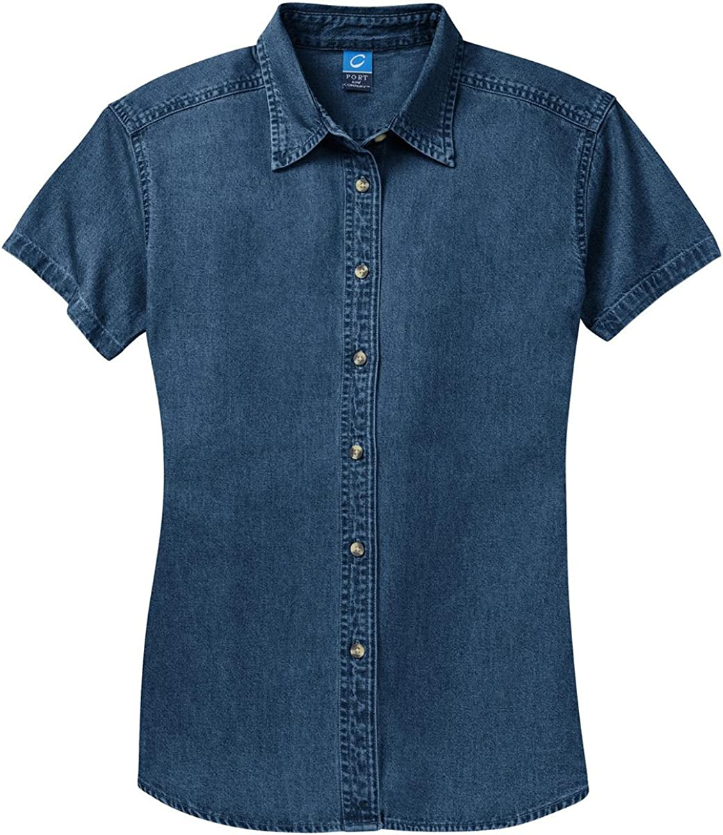 Short Sleeve Value Denim Shirt. Port /& Company