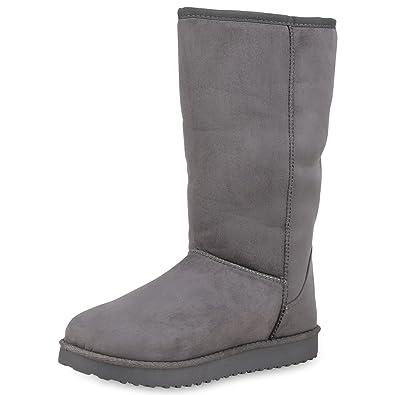 32e29d0d1dd2b7 SCARPE VITA Damen Schlupfstiefel Warm Gefütterte Stiefel Profil Winter Boots  152448 Grau 41