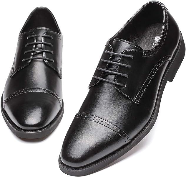 Amazon Gm Golaiman Mens Dress Shoes Lace Up Derbies Cap Toe