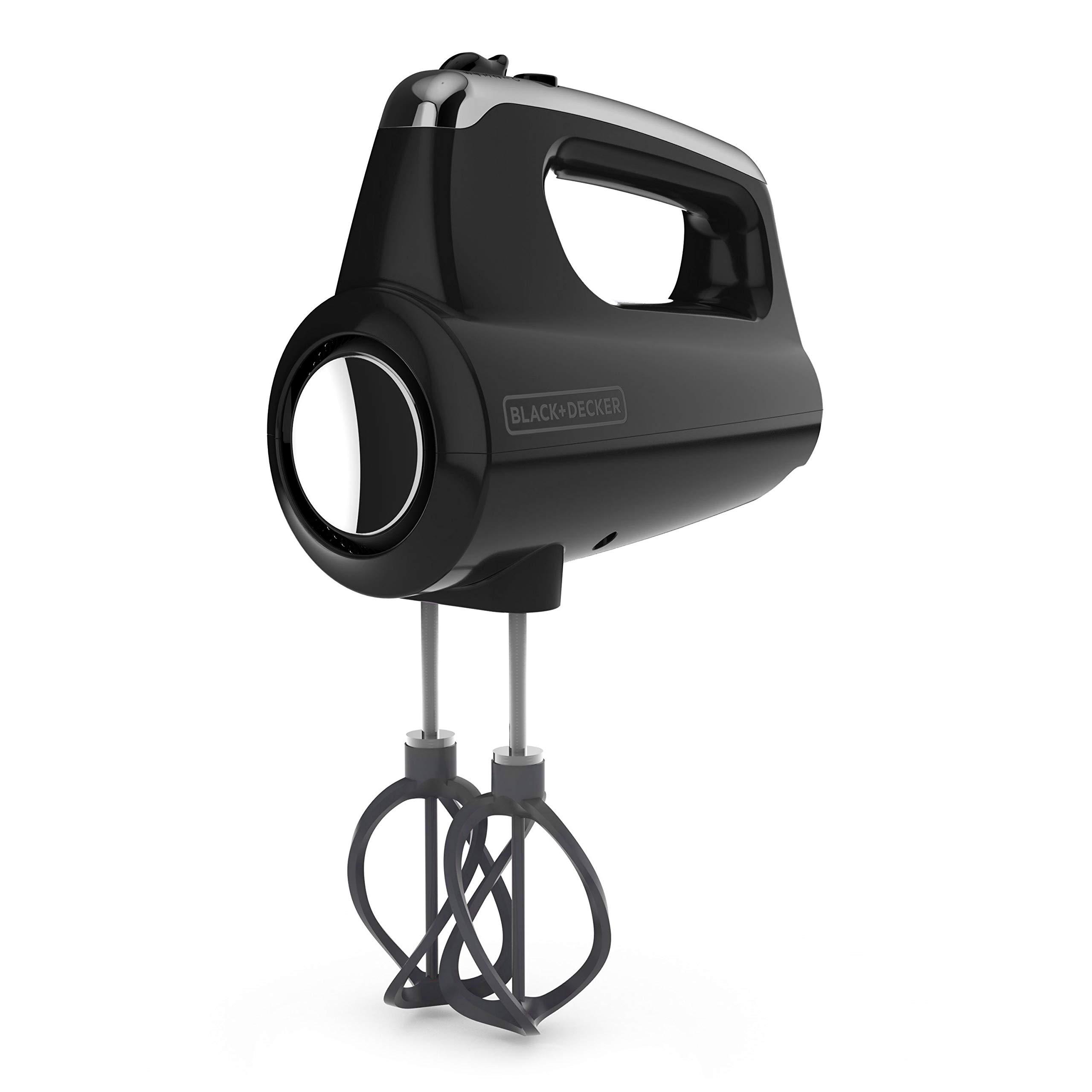 BLACK+DECKER MX600B Helix Performance Premium 5-Speed Hand Mixer, 5 Attachments + Case, Black by BLACK+DECKER