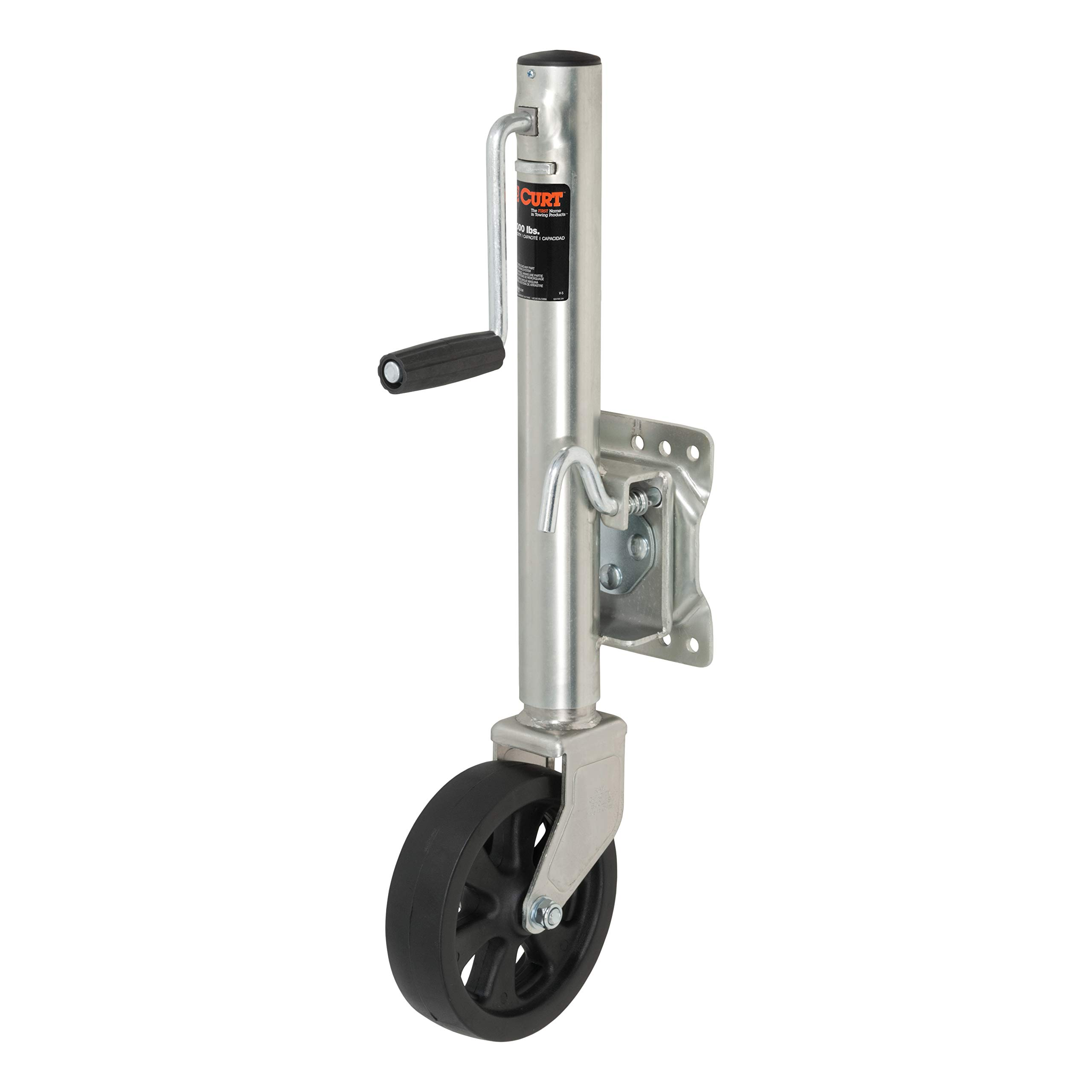 CURT 28115 Marine Boat Trailer Jack with 8-Inch Wheel 1,500 lbs, 11 Inches Vertical Travel by CURT