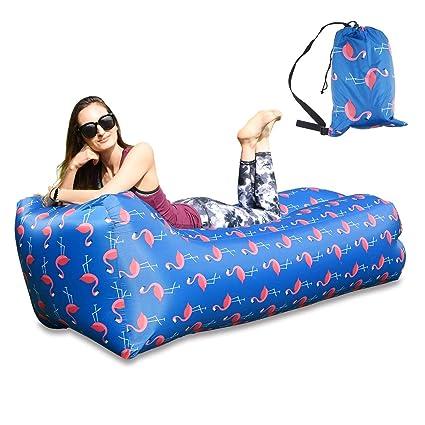 Air Lounger Sofa Sitzsack Luftsofa Aufblasbares Garten Strand Campen Schwimmen I
