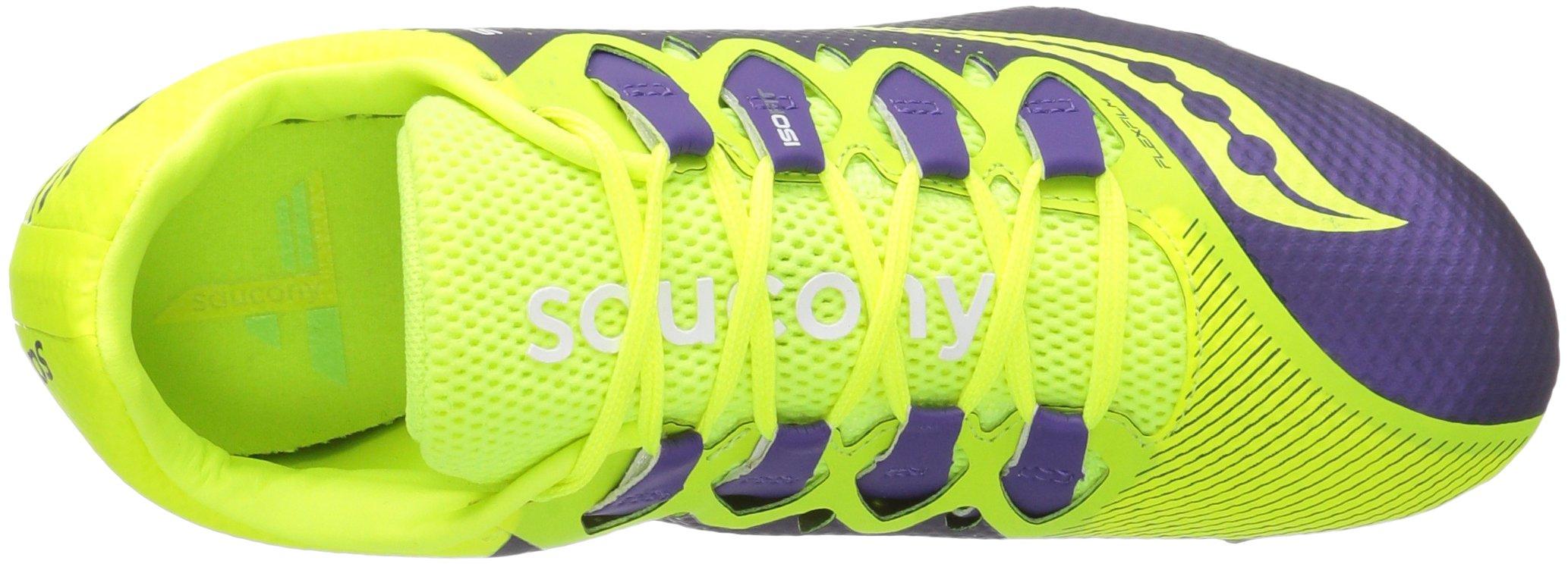 Saucony Women's Showdown 4 Track Shoe, Citron/Purple, 9.5 M US by Saucony (Image #8)